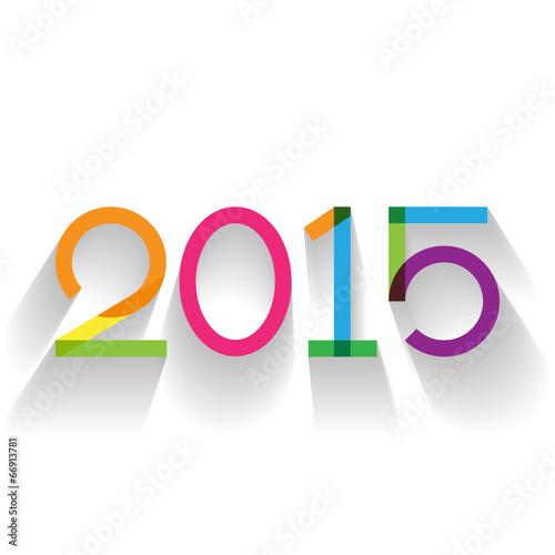 Fotografia  Creative text 2015 in flat design