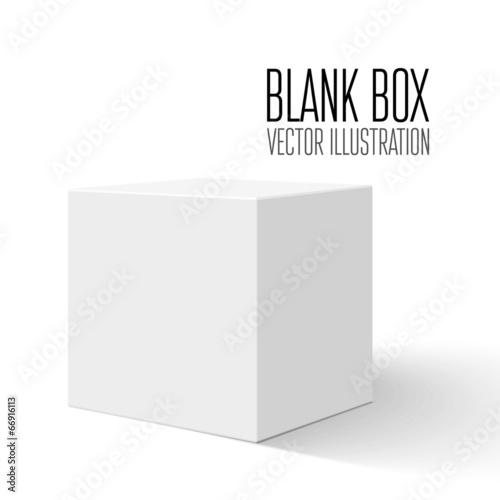 Photographie  Boîte blanche blanche