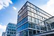Leinwandbild Motiv Bürogebäude -- modernes Gebäude