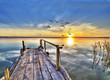 embarcadero para sentarse a ver el mar