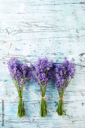 In de dag Bloemen Fresh lavender on wood