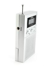 Transistor Radio On White Back...