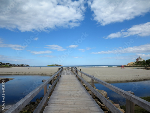 Photo  Wood Bridge over Stream at Good Harbor Beach, Gloucester, Massac