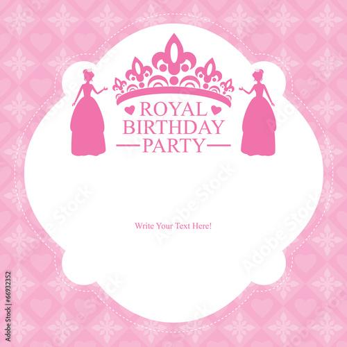 Fotografie, Obraz  Birthday Princess Party Card