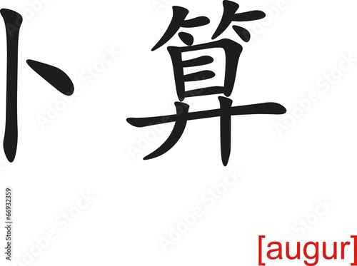 Chinese Sign for augur Canvas Print