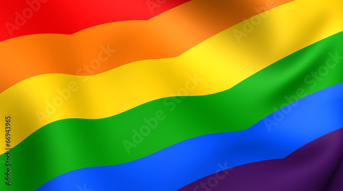 Flag of LGBT Fototapet