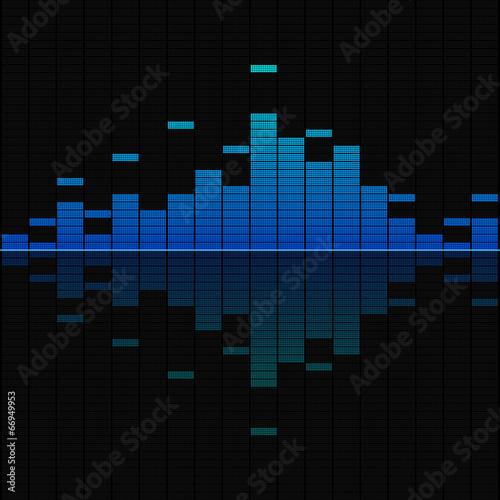 Fotografía  Blue musical equalizer