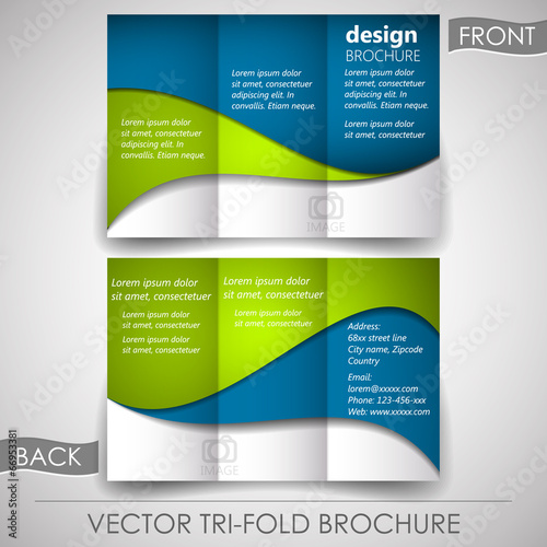 business tri fold flyer template brochure or cover design buy