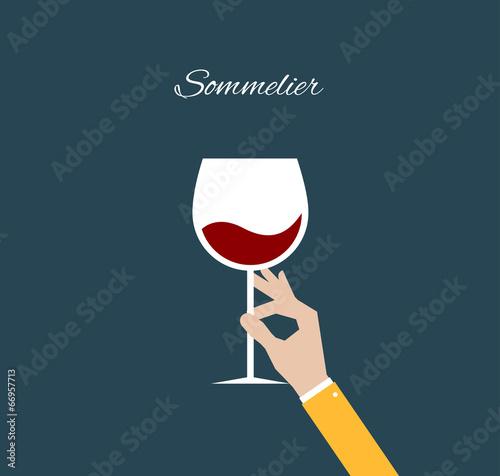 Sommelier. Flat illustration