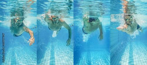Freestyle swimming Fototapeta