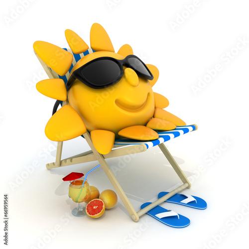 Fotografia  Beach bed and sun
