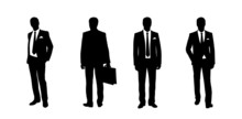 Businessman Standing Silhouett...