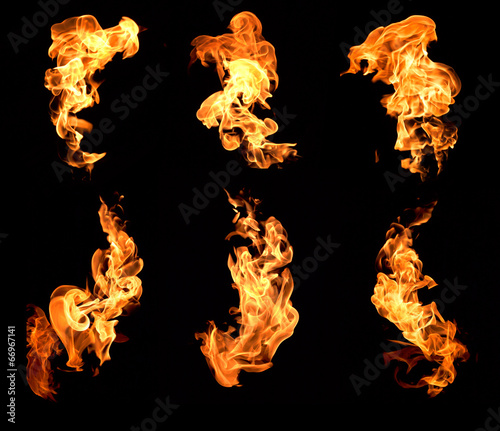 Fotobehang Vuur Flame heat