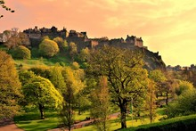 View Of Edinburgh Castle And P...