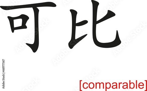 Fotografie, Tablou Chinese Sign for comparable