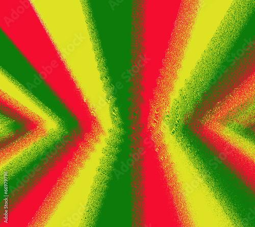 Fotografie, Obraz  Red, yellow, green rasta flag