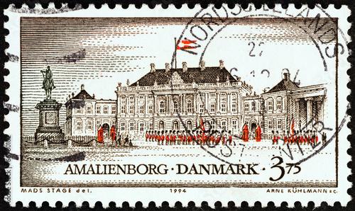 Fotografia  Amalienborg Castle, Copenhagen (Denmark 1994)