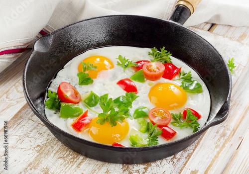 Deurstickers Gebakken Eieren Fried eggs