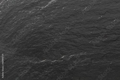 Schiefer glänzend schwarze Struktur oder Hintergrund Canvas Print