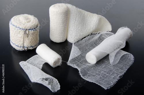 Different rolls of medical bandages Fototapet