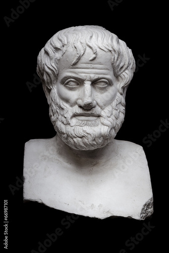 Aristotle on Black Fototapeta