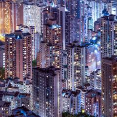 Fototapeta Miasta Hochhäuser in Hongkong