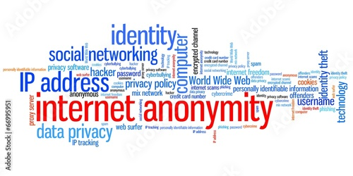 Fotografía  Internet anonymity - word cloud
