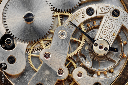 vintage clock machinery