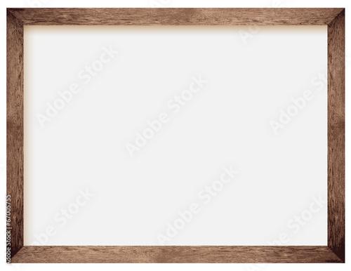 Obraz natural wooden photo frame - fototapety do salonu