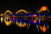 Dragon River Bridge ( Rong Bridge) In Da Nang, Vietnam