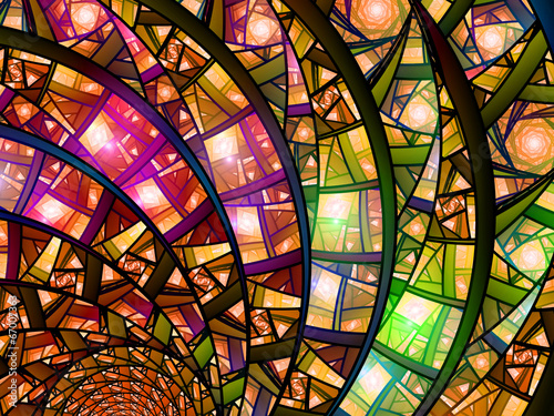 Fotografie, Obraz  Colorful stained-glass