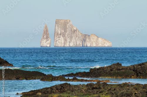 Kicker Rock (Leon dormido) in San Cristobal island