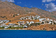 Panoramic view of traditional village on Paros island, Greece