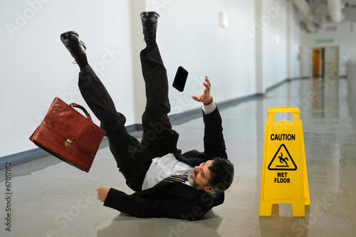 Foto Businessman Falling