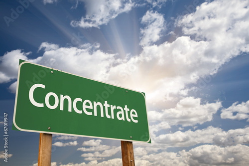 Fotografie, Obraz  Concentrate Green Road Sign