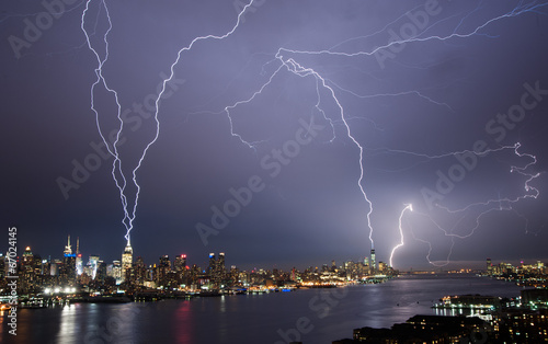 Lightening over Manhattan #67024145