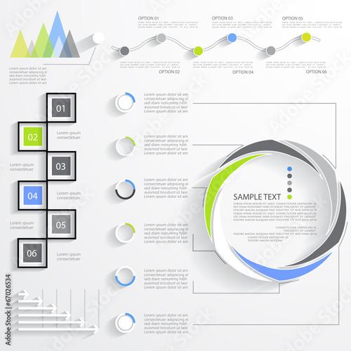 Photographie  Ensemble d'infographie d'affaires