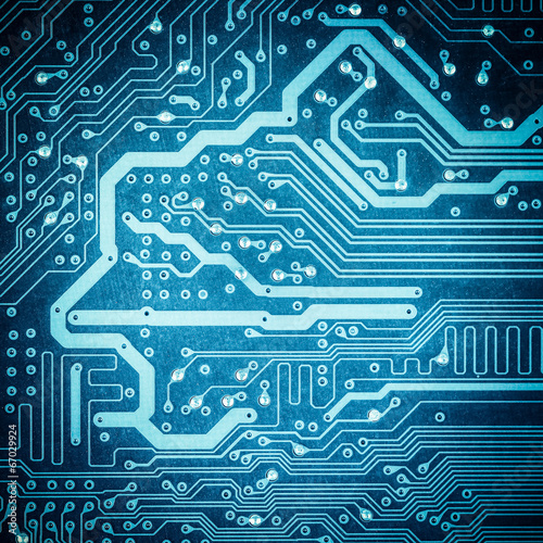 blue circuit board texture closeup - Buy this stock photo and ...