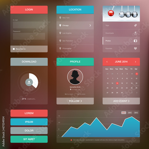 Fotografía  Flat design graphic user interface concept