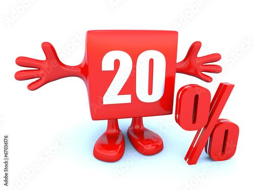 Fotografía  20 Percent off discount