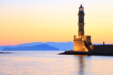 Seascape View Of Lighthouse In...