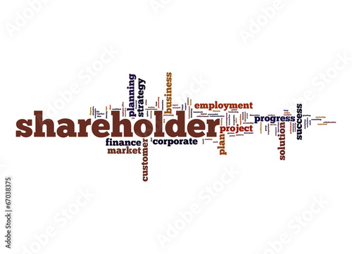 Fotografía  Shareholder word cloud