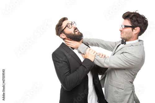 Fotografia, Obraz zwei Geschäftsmänner kämpfen miteinander