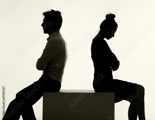 Printed kitchen splashbacks Artist KB Sad couple having an argument