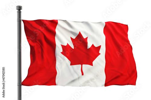Spoed Foto op Canvas Canada Flag of Canada