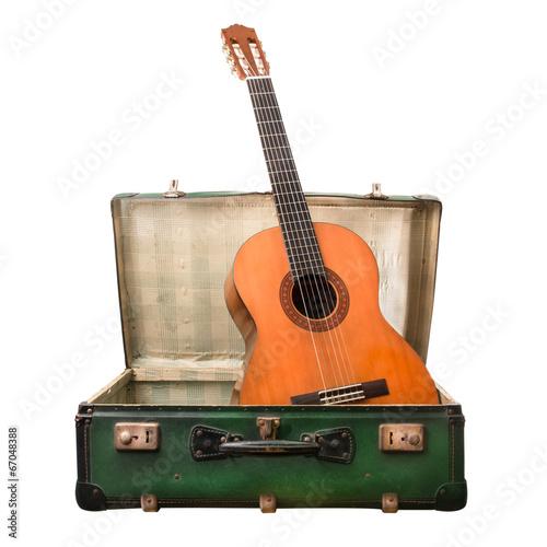 Fotografie, Obraz chitarra in valigia
