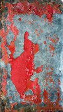 Grunge Background With Metal And Red Paint