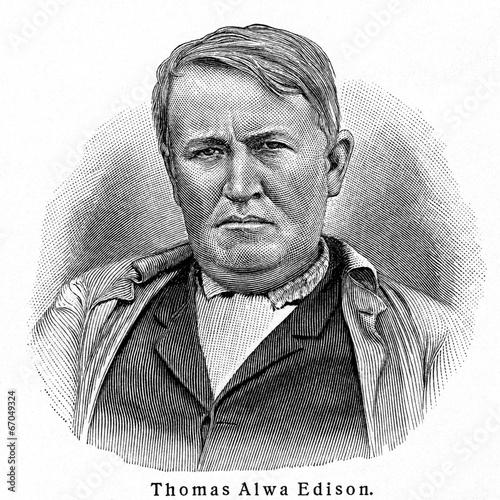 Thomas Alva Edison Canvas Print