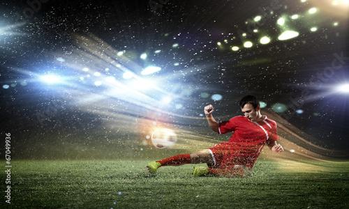 Fotografie, Tablou  Football player
