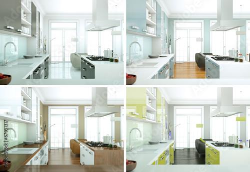 Modern Kitchen Interior Design Kaufen Sie Diese Illustration Und Stunning Modern Kitchen Interior Design